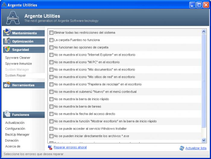 Screenshot 3 of Argente Utilities Portable
