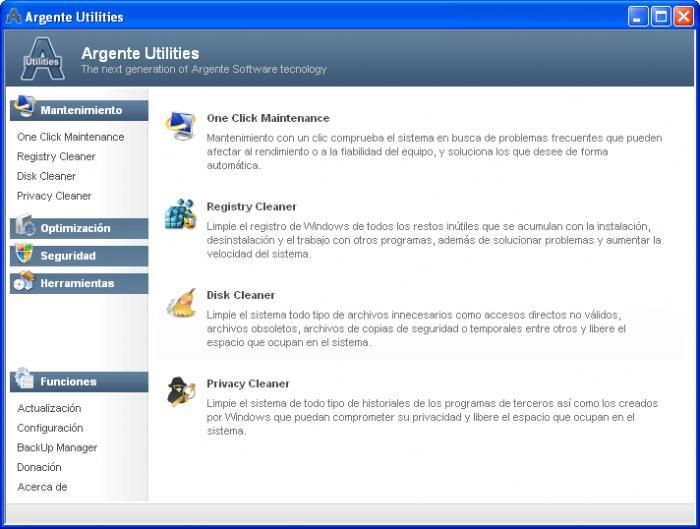 Screenshot 2 of Argente Utilities Portable