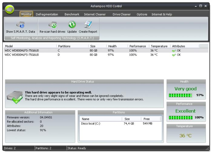 Screenshot 3 of Ashampoo HDD Control