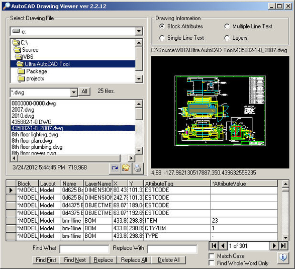 Screenshot 1 of AutoCAD Drawing Viewer
