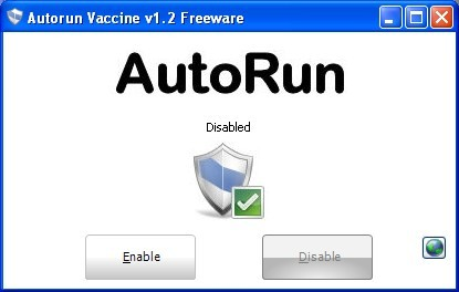 Screenshot 1 of AutoRun Vaccine