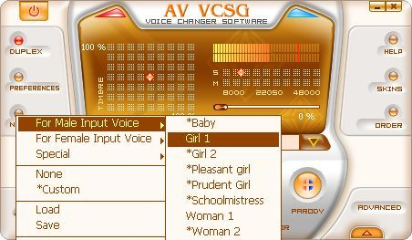 Screenshot 2 of AV Voice Changer Software