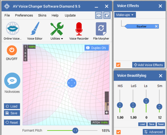 Screenshot 1 of AV Voice Changer Software