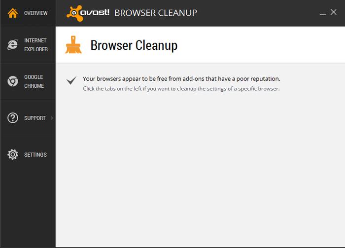 Screenshot 5 of avast! Browser Cleanup