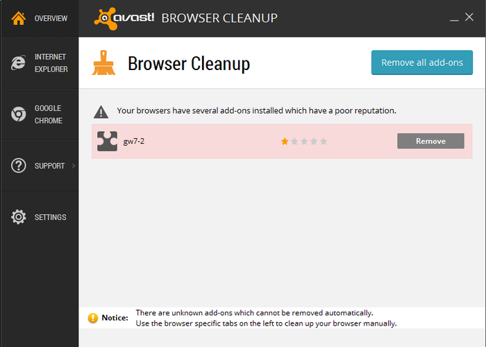 Screenshot 3 of avast! Browser Cleanup