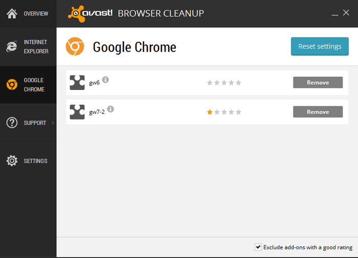 Screenshot 1 of avast! Browser Cleanup