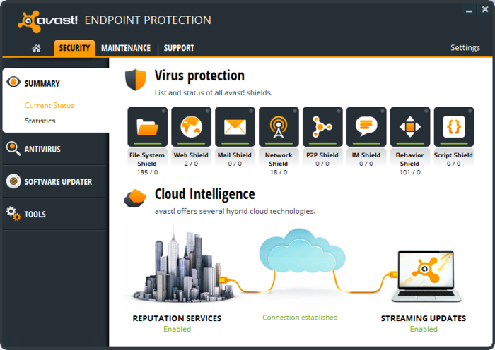 Screenshot 1 of avast! Endpoint Protection