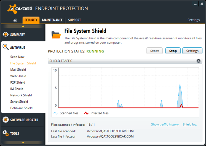 Screenshot 2 of avast! Endpoint Protection