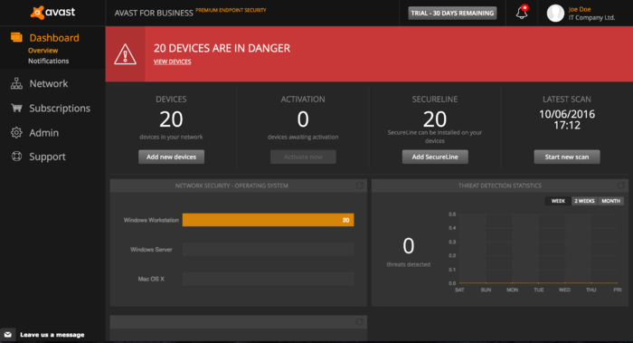 Screenshot 1 of Avast for Business Premium Endpoint Security