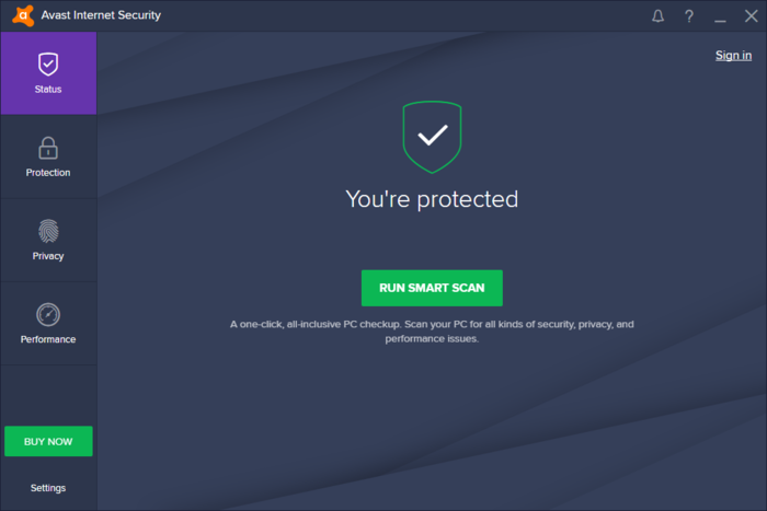 Screenshot 1 of Avast Internet Security 2015