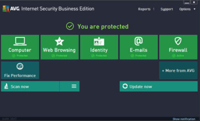 Screenshot 1 of AVG Internet Security Business Edition