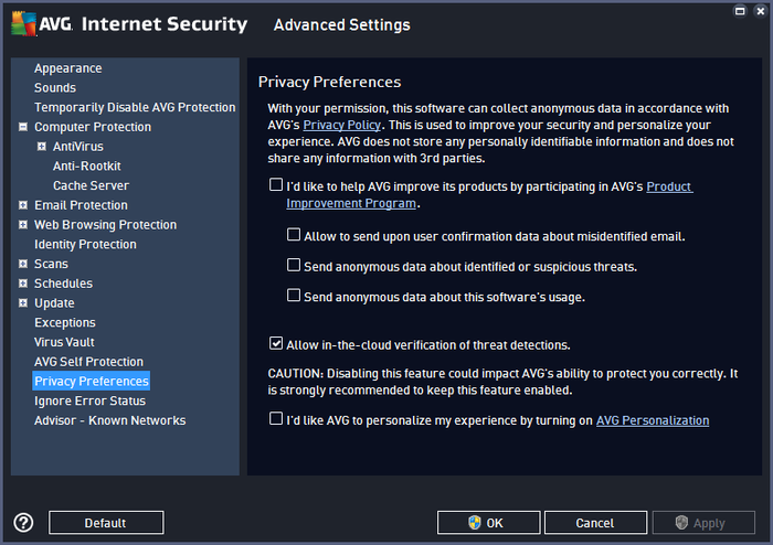 Screenshot 8 of AVG Internet Security - Unlimited