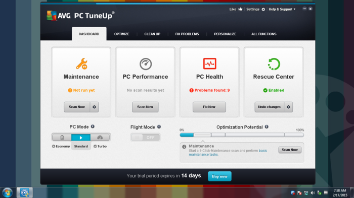 Screenshot 2 of AVG TuneUp