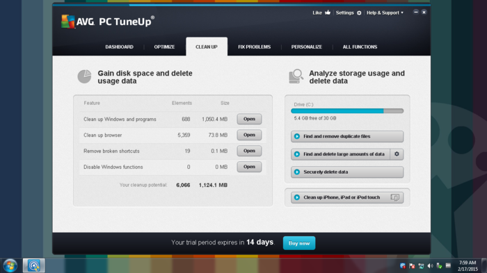 Screenshot 4 of AVG TuneUp