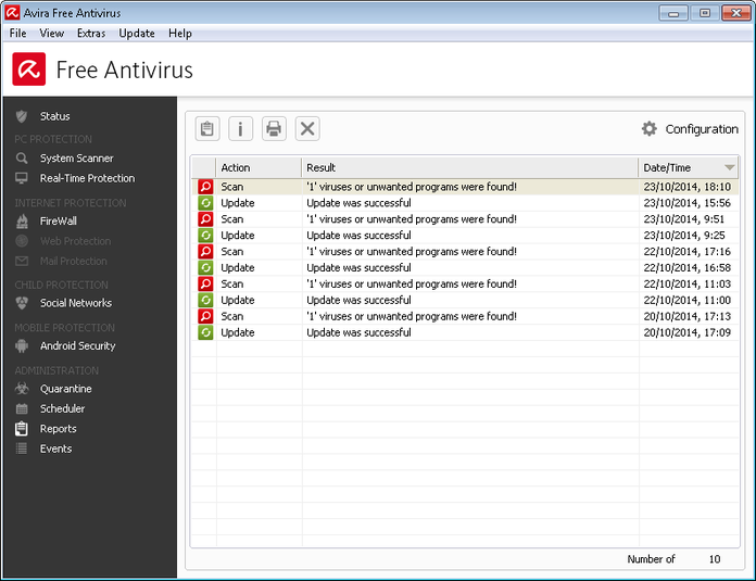 Screenshot 7 of Avira Free Antivirus