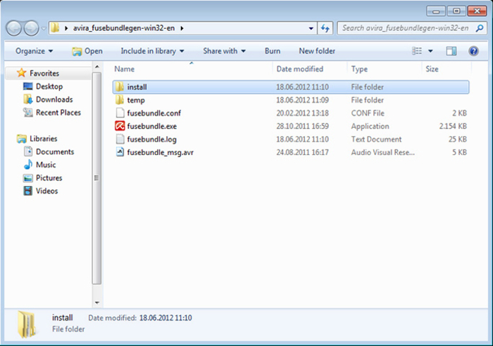 Screenshot 5 of Avira Fusebundle Generator