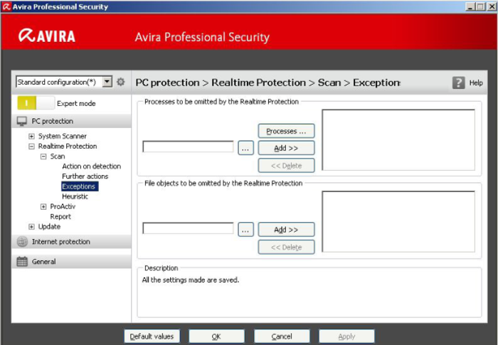 Screenshot 2 of Avira Professional Security