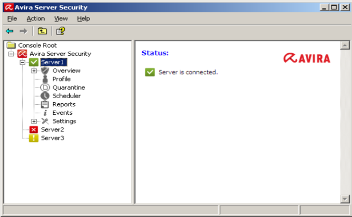 Screenshot 1 of Avira Server Security