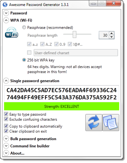 Screenshot 1 of Awesome Password Generator
