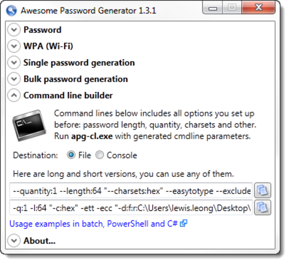 Screenshot 6 of Awesome Password Generator
