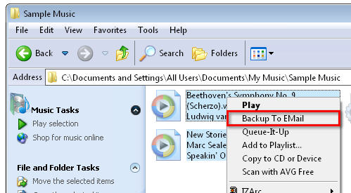 Screenshot 4 of Backup to Email