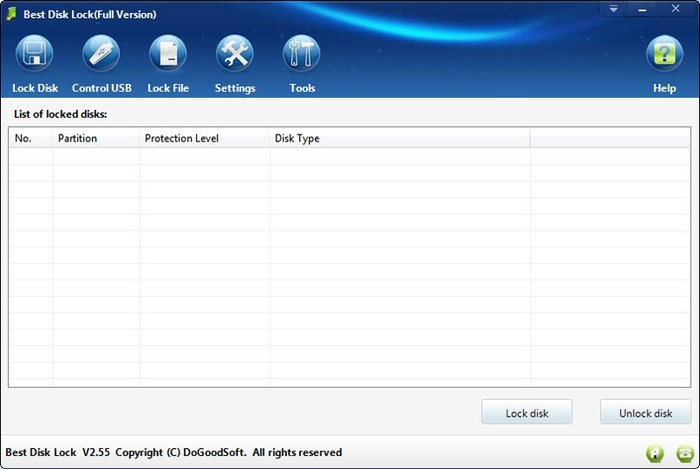 Screenshot 1 of Best Disk Lock