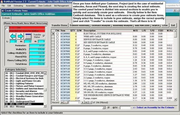 Download Bid4Build Construction Estimating Software free