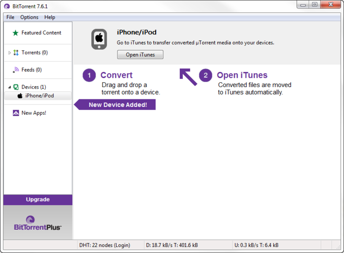 Screenshot 3 of BitTorrent