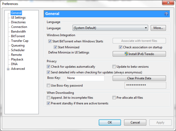 Screenshot 1 of BitTorrent
