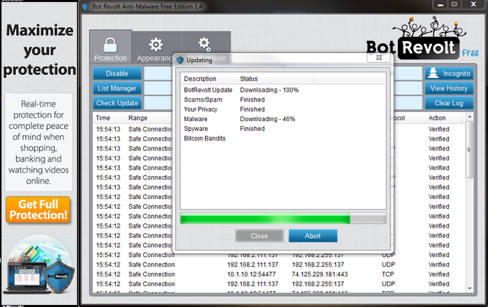 Screenshot 1 of Bot Revolt Anti-Malware Protection