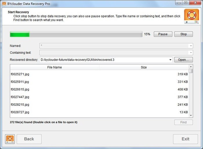 Screenshot 1 of BYclouder Data Recovery Pro