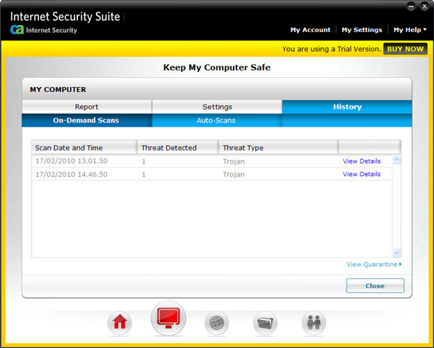 Screenshot 7 of CA Anti-Virus Plus