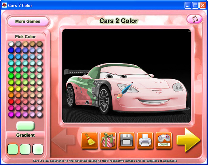 Download Cars 2 Color free — NetworkIce.com