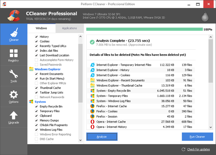 Screenshot 2 of CCleaner Professional
