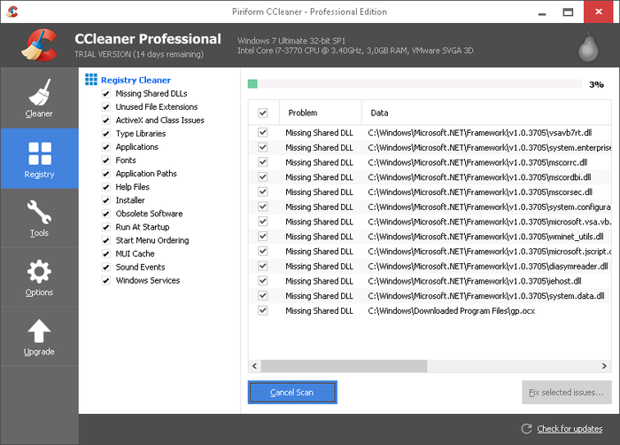 Screenshot 1 of CCleaner Professional