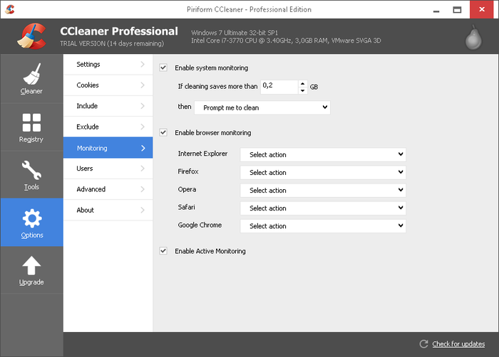 Screenshot 5 of CCleaner Professional