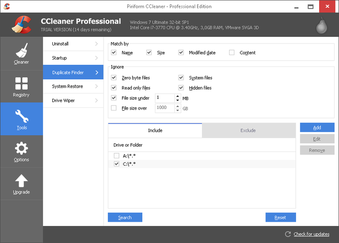 Screenshot 6 of CCleaner Professional