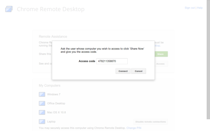 Screenshot 4 of Chrome Remote Desktop