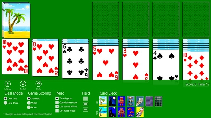 Screenshot 1 of Classic Solitaire (Free) for Windows 10