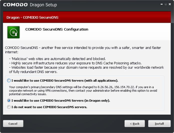 Screenshot 4 of Comodo Dragon