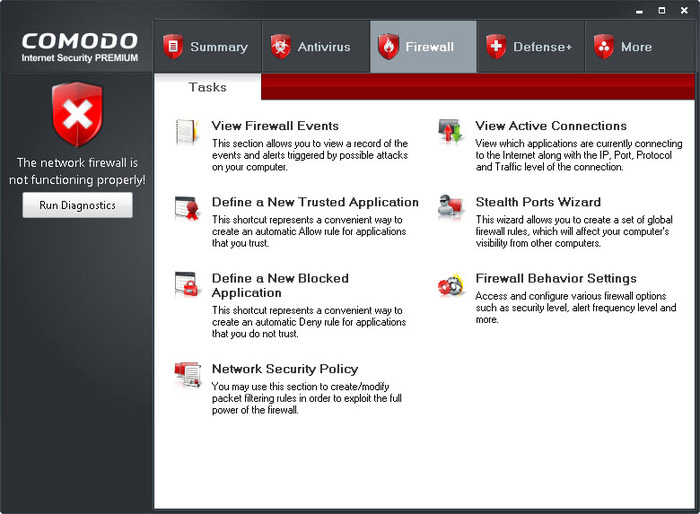 Screenshot 3 of Comodo Internet Security