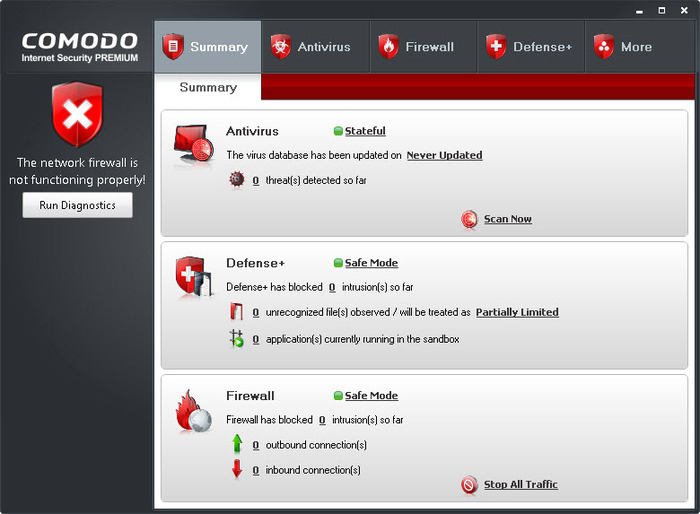 Screenshot 2 of Comodo Internet Security