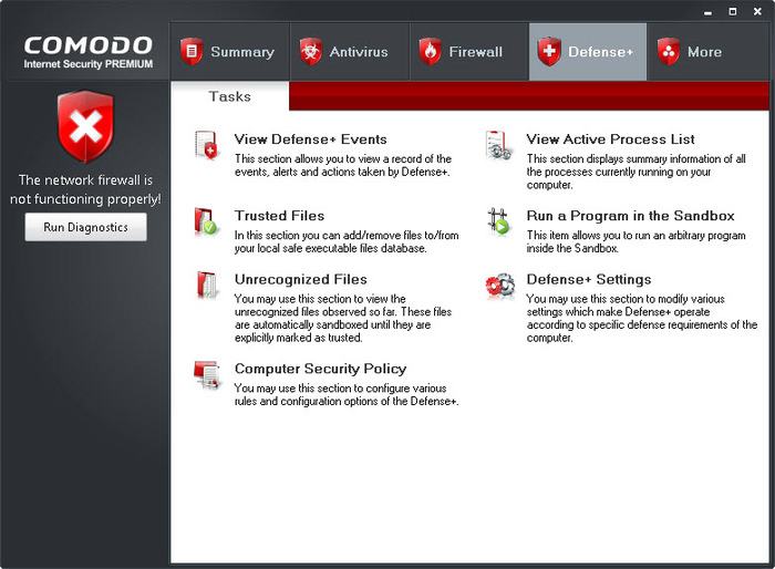 Screenshot 1 of Comodo Internet Security