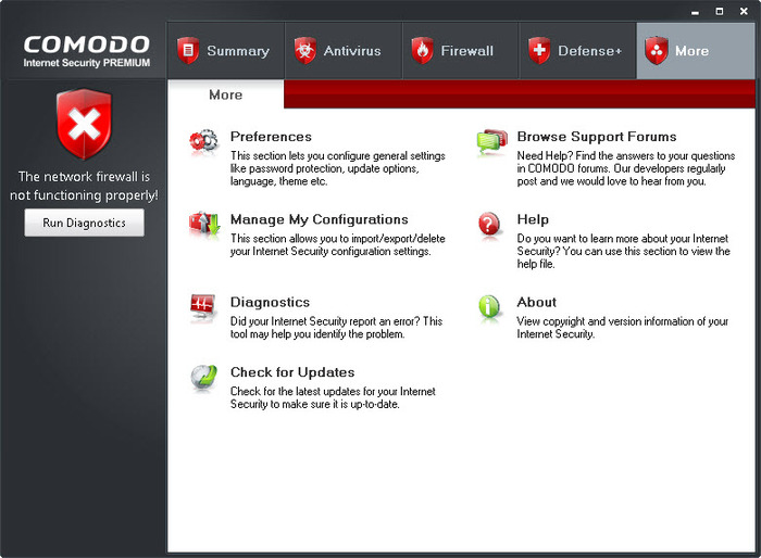 Screenshot 5 of Comodo Internet Security