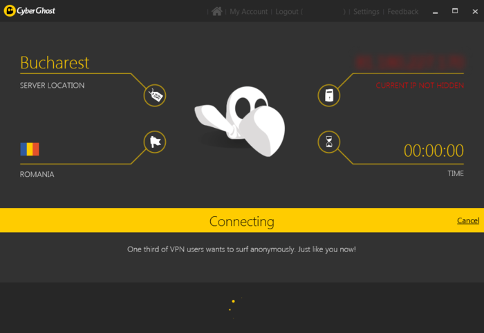 Screenshot 1 of Cyberghost VPN