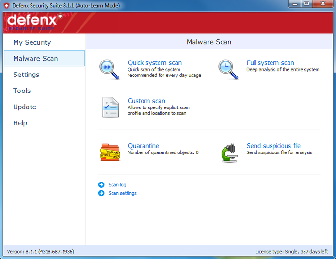 Screenshot 4 of Defenx Internet Security