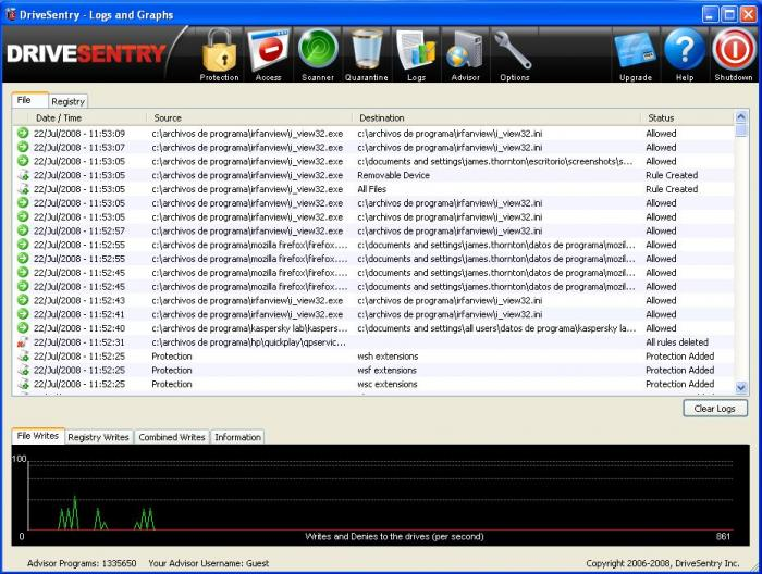 Screenshot 3 of DriveSentry