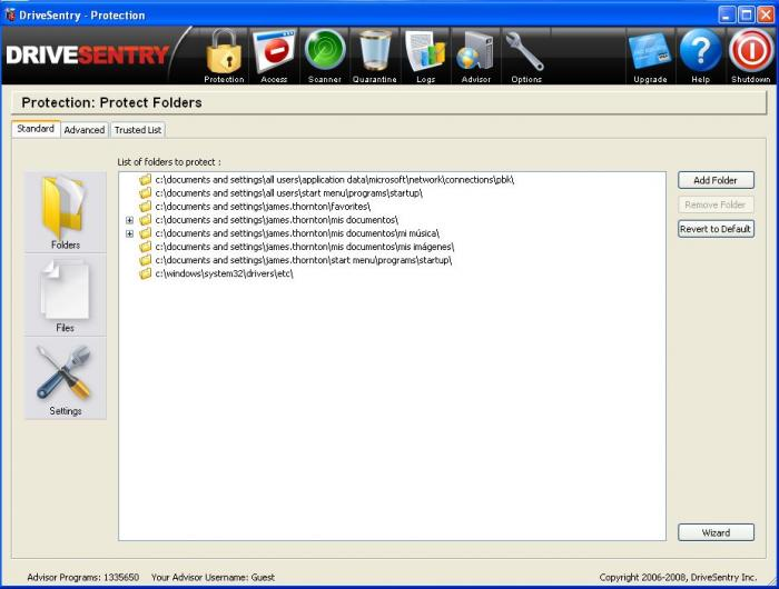 Screenshot 4 of DriveSentry