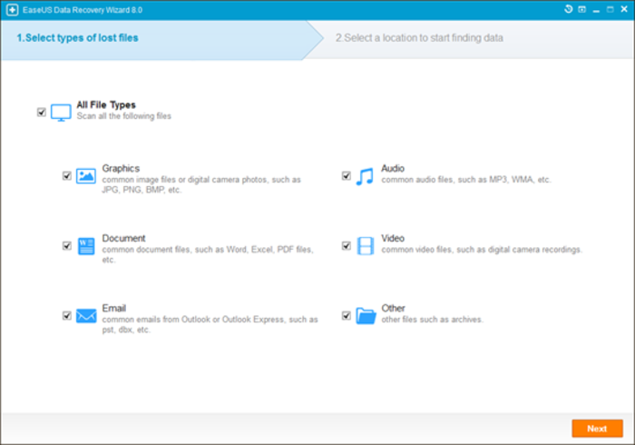 Screenshot 3 of EaseUS Data Recovery Wizard Free Edition