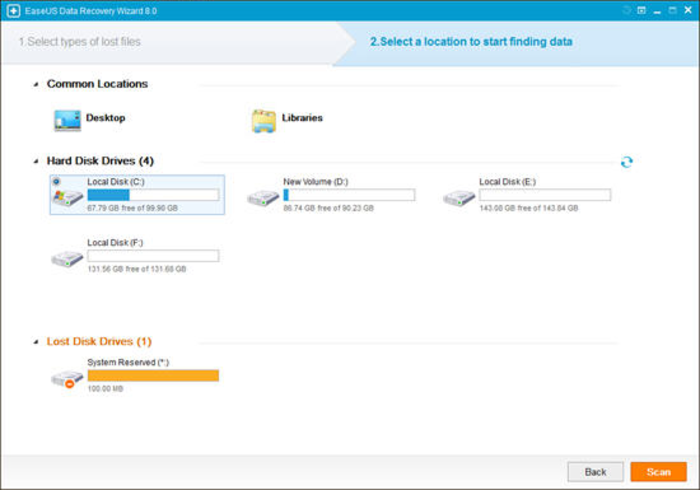 Screenshot 2 of EaseUS Data Recovery Wizard Free Edition